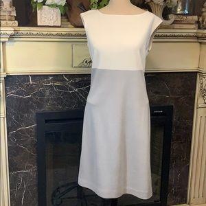 St. John cap sleeve sheath dress